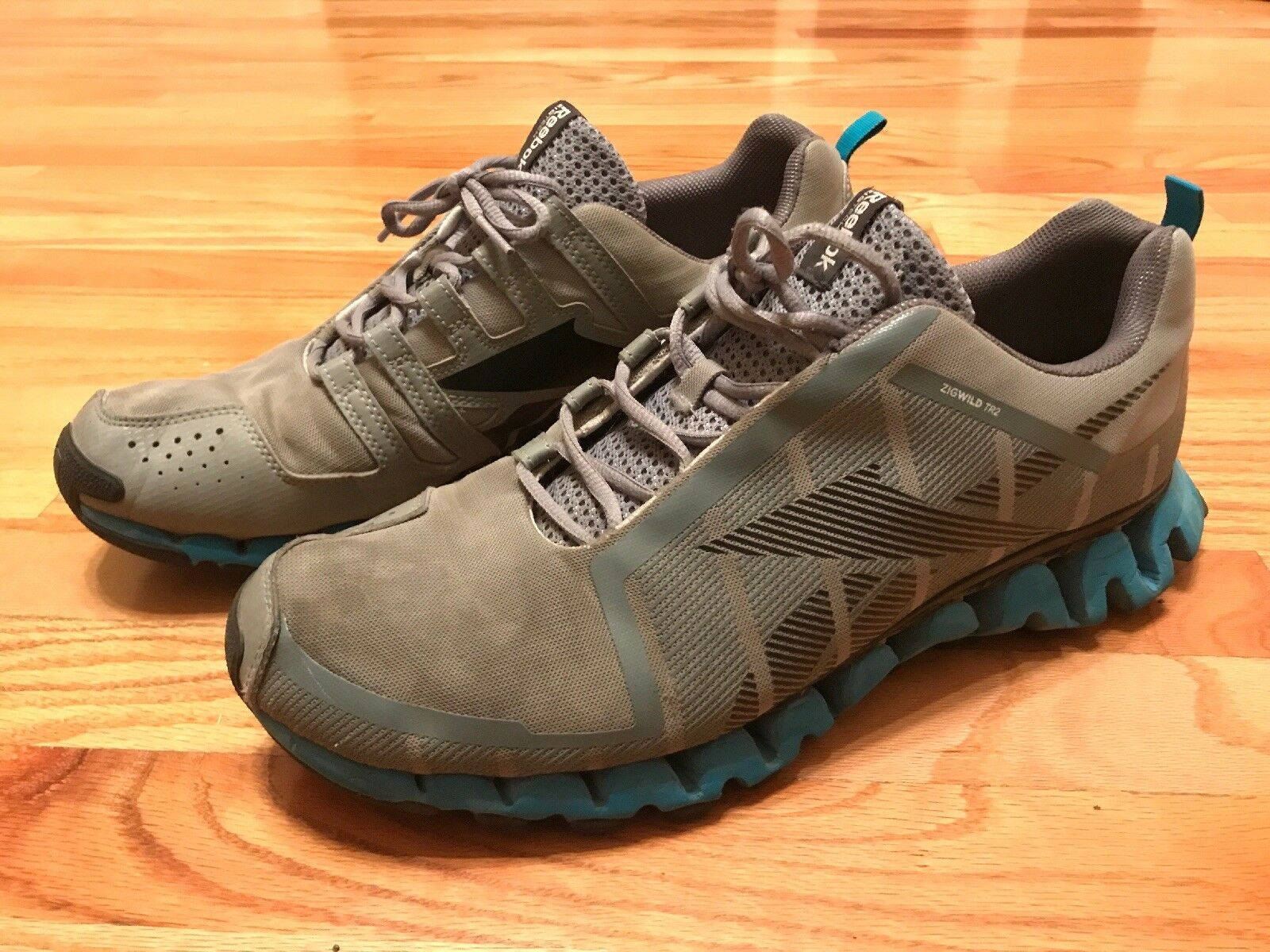 5cc0941979a0 Reebok Zigtech Zigwild TR 2 Gray blue Men Running Shoes 13