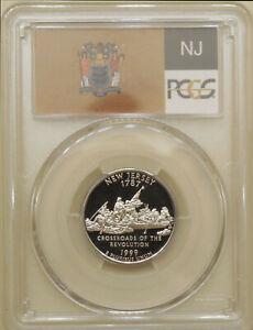 1999-S-New-Jersey-state-quarter-PCGS-PR-70-DCAM-proof-deep-cameo-PERFECT-Flag