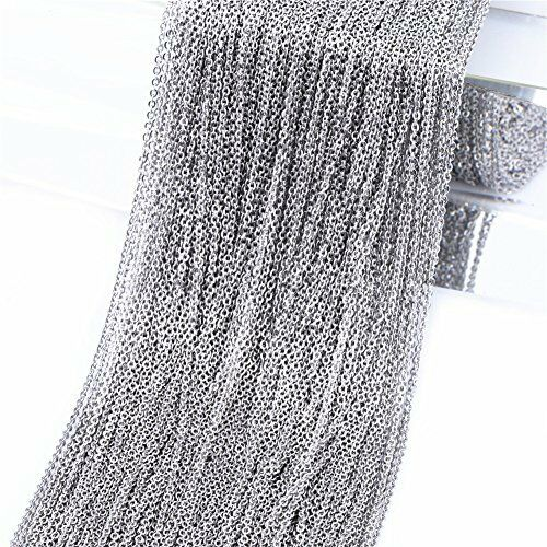 Steel Cable Chain Link in Bulk for Necklace Jewelry Accessories DIY Making