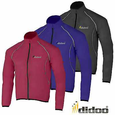 Didoo Mens Waterproof Lightweight High Visibility Running/Cycling Rain Jacket