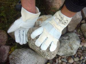 Arbeitshandschuhe-Rindnarbenleder-Handschuhe-Bau-Ga-La-Bau-Garten-2-Paar-Gr11