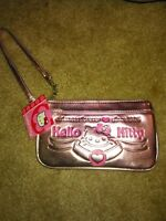 Sanrio Hello Kitty Pink Metallic Wristlet Purse -new