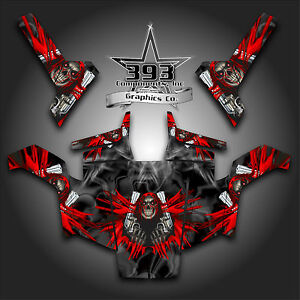 Details about Polaris RZR 800 UTV Graphics Decal Wrap 2007 - 2010 UNLEASHED  Red