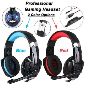 Pro-Gamer-PS4-Headset-For-PlayStation-4-Xbox-One-amp-PC-Headset-Blue-Red