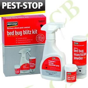 Bed Bug Treatment Kill Bed Bugs Killer Blitz Kit Fogger Spray Powder Ebay