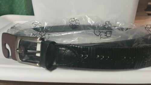 NWT Tommy Bahama Men/'s Size 50 black  Leather Belt $78 msrp