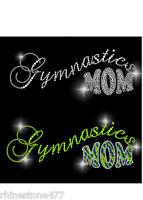 Rhinestone Iron On Gymnastics Mom Transfer Applique Gymnastics Bling