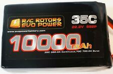 R/C Rotors Evo Power 10,000mah 6s Lipo DJI S800 Droidworks Cinestar Octocopter