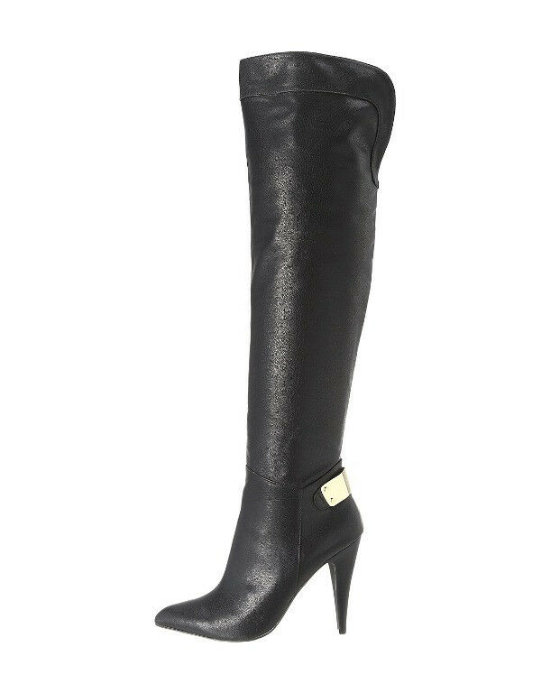 NEW FERGIE BLACK RICH OVER THE KNEE BOOTS Schuhe SZ 8