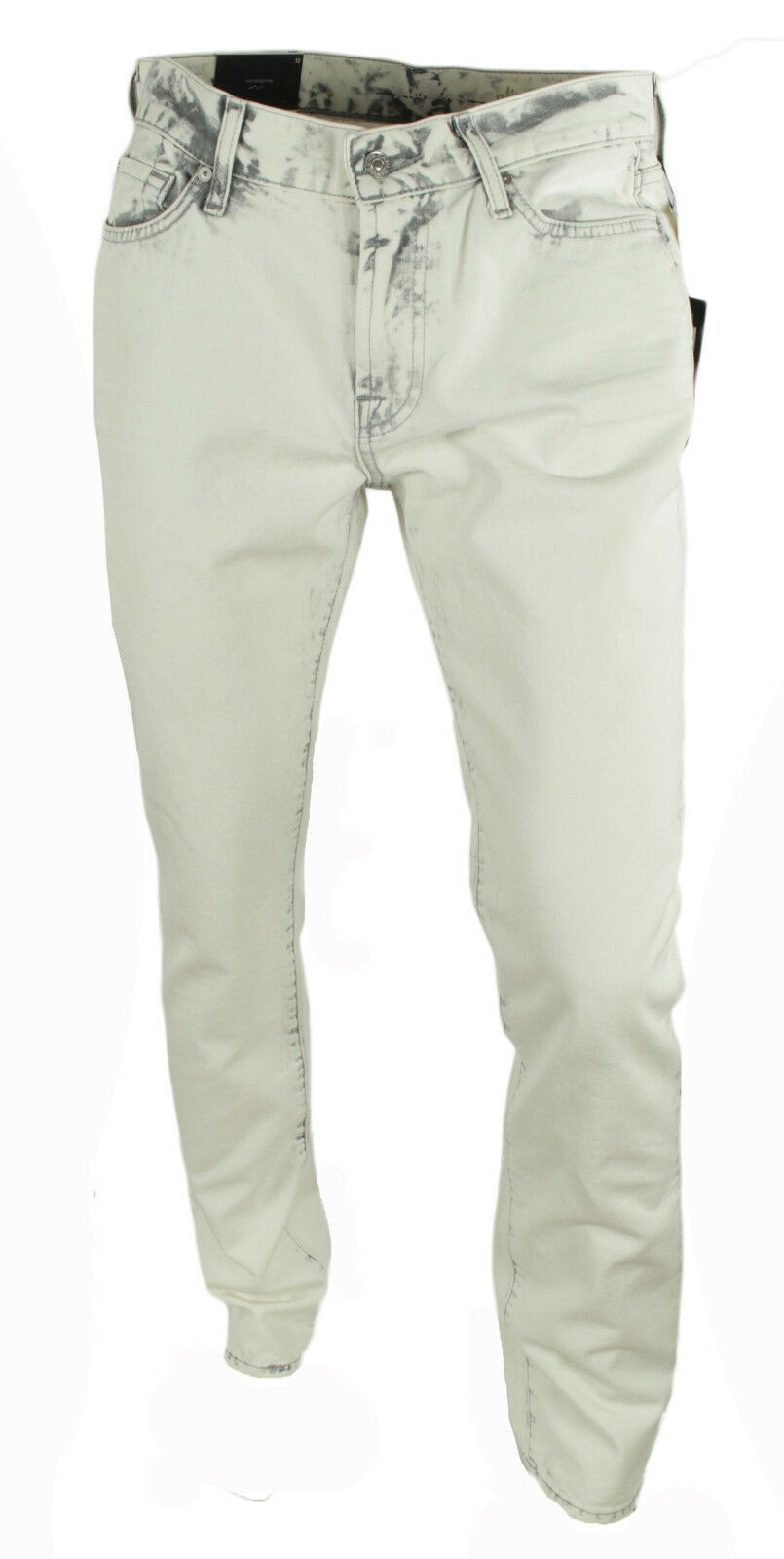 430b647d4b5 NEW 7 FOR MANKIND USA STRAIGHT LEG ALPINE WHITE JEANS 33 SLIM ALL  nfhxiy6023-Jeans