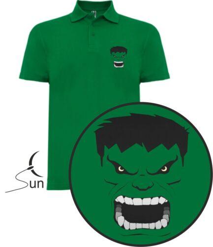 T-Shirt Polo T-Shirt Hulk Comic The Avengers les Vengeurs Marvel Sil Cch001p