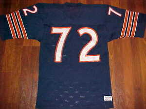 low cost 6f345 8f7ac Details about Chicago Bears William Perry #72 NFL NFC Central Sand-Knit  Blue Orange Jersey M