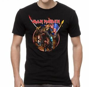 IRON-MAIDEN-cd-lgo-ENGLAND-CUSTER-Official-SHIRT-MED-New-US-version