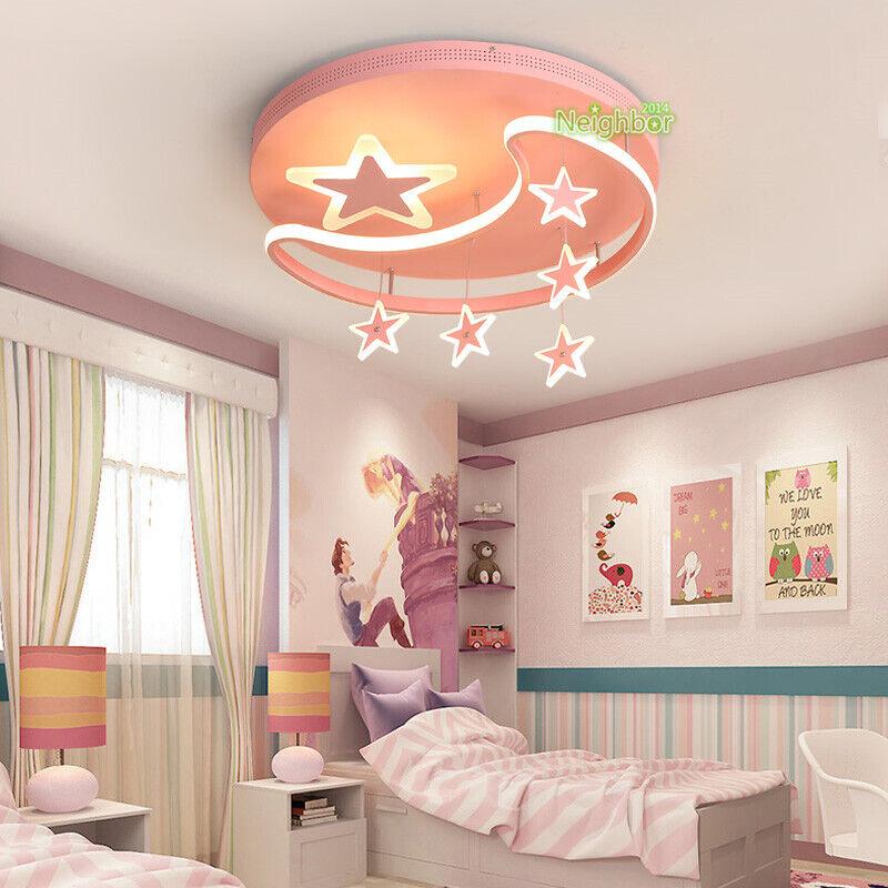 Kids Room Led Ceiling Lamp Girl Bedroom, Chandeliers For Girl Bedrooms