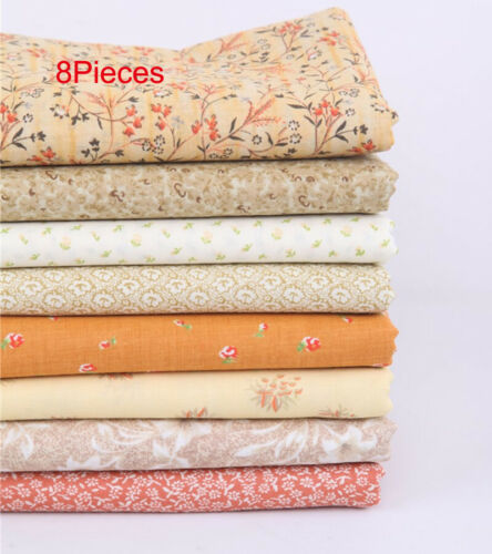 8Sets Multifunction Printing Plain Weave Cloth For Diy Tablecloth Curtain Cotton