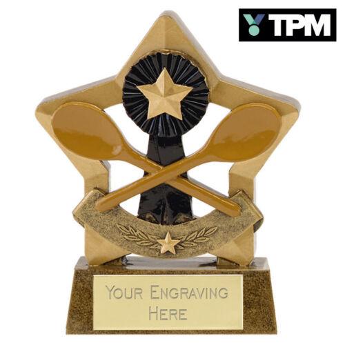 WOODEN SPOON MINI STAR TROPHY AWARD 8cm *FREE ENGRAVING*