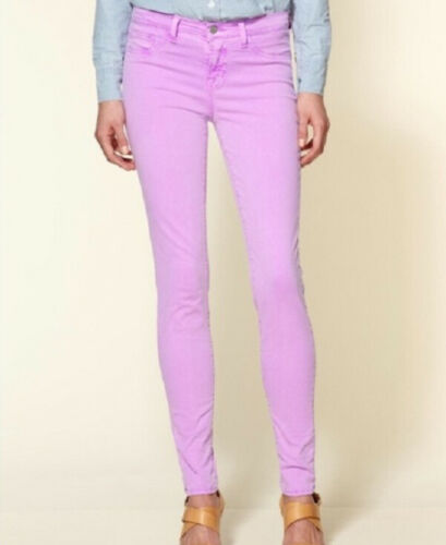 J BRAND Womens 811k120 Jeans Super Skinny Soft Lilac Pink Size 26