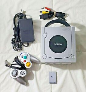 Nintendo GameCube DOL-101 Platinum Console (NTSC) Bundle CLEANED & TESTED