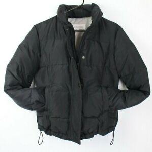 Calvin Klein womens medium black puffer jacket elastic ...