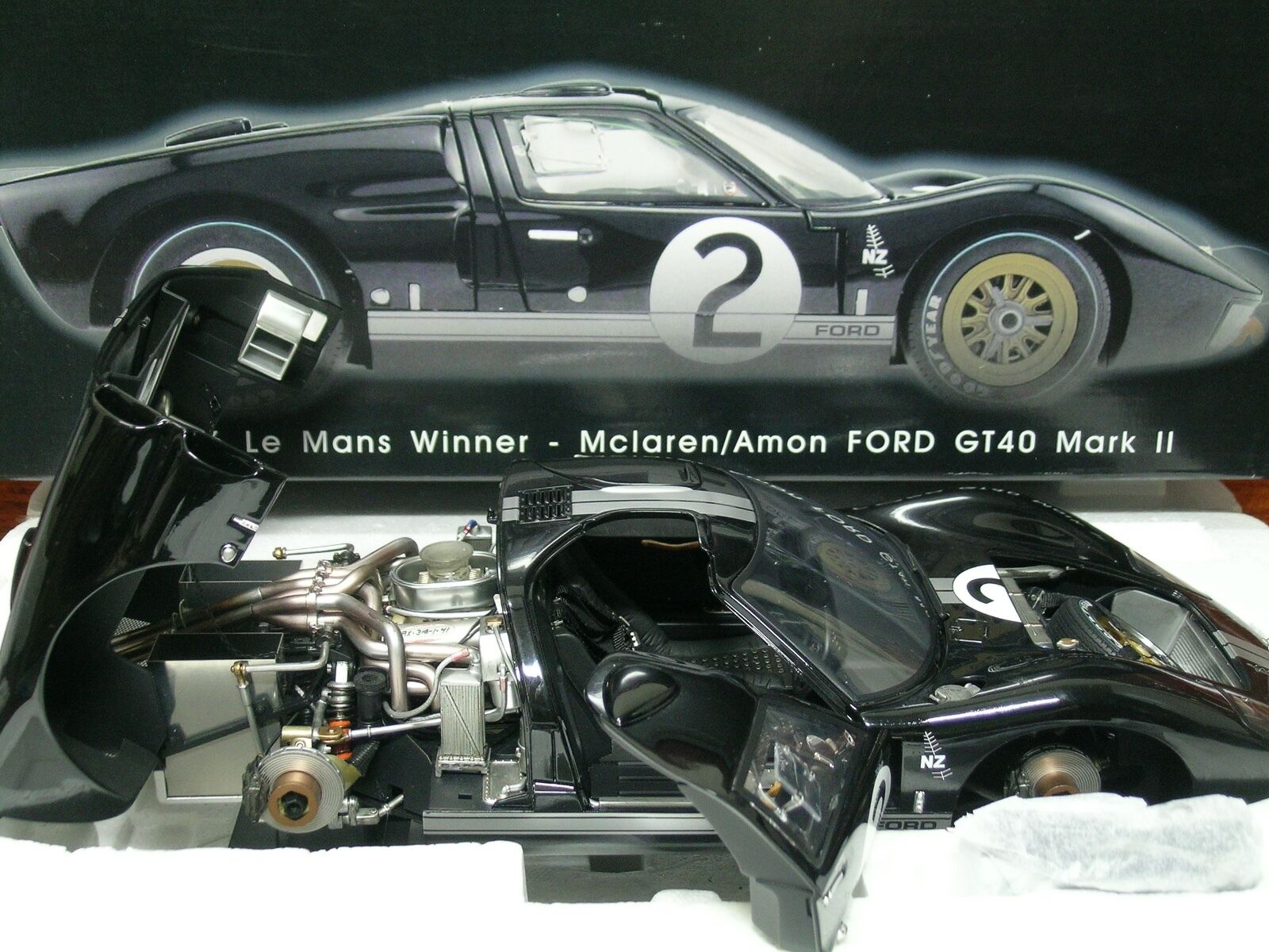 GMP 1 12 SCALE SCALE SCALE 1966 LE MANS WINNER - MCLAREN AMON FORD GT40 MARK II 682a8d
