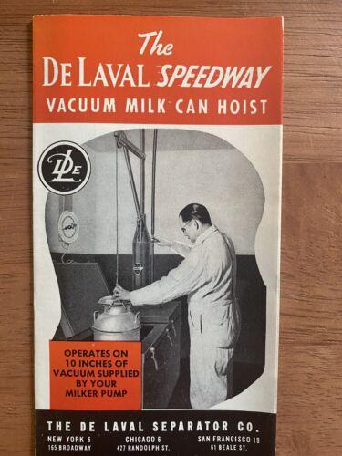 1948 De Laval Dairy Milking Machine milk can hoist 2A