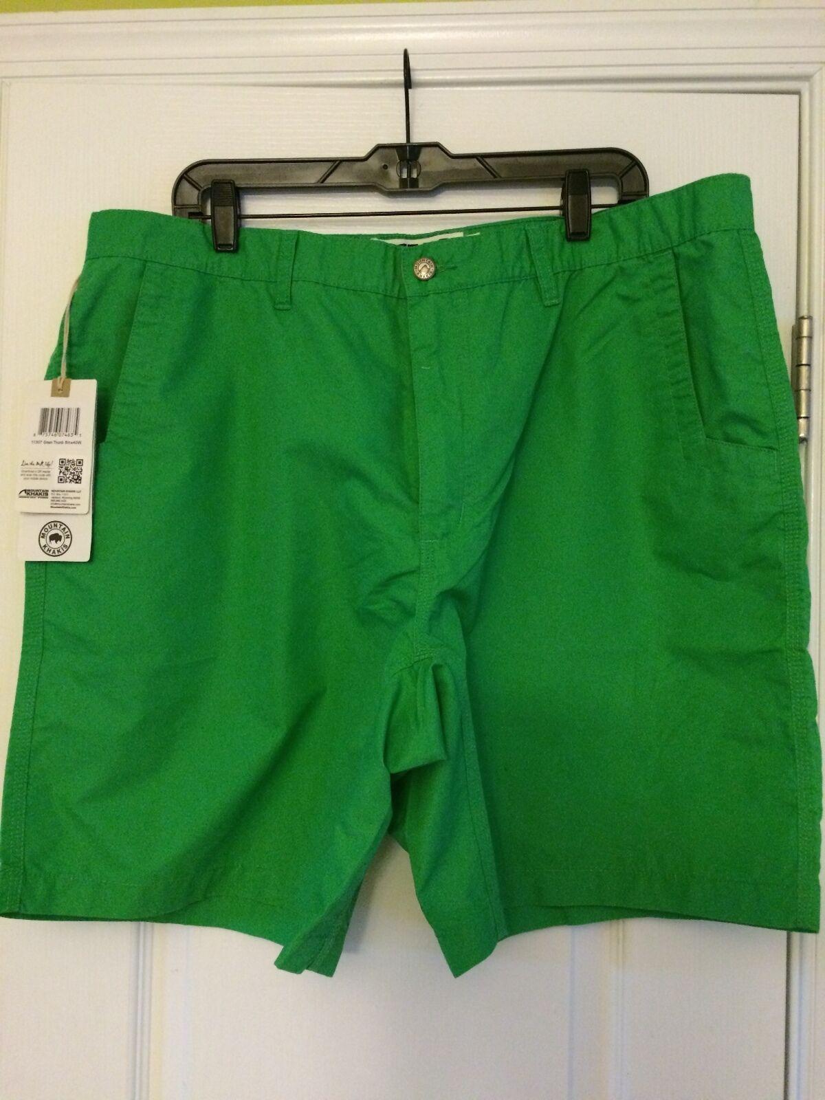 Mountain Khaki Men's Poplin Short Bahamas orange  Green Size 32-40