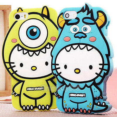 New 3D Silicone Cute Hello Kitty Monster Soft Case Cover for iPhone 6 6 Plus