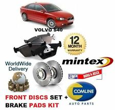 FOR VOLVO S40 2.0D 2.0 D3 2.0 D4 2.4 2.5 T5 2004-->ON FRONT DISCS + PADS SET KIT
