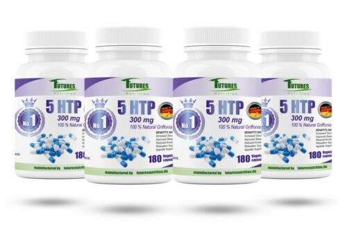 5 HTP 300mg 100/% Natural Griffonia Samen Extrakt 720 kapseln Germany