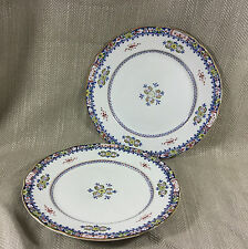 2 Booths Silicon China Plate 19th Century Shabby Chic Kitchen Decor Antique VTG