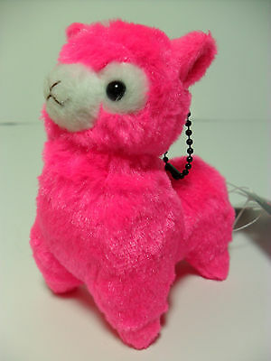 Play Color Arpakasso Neon Fuschia Pink Alpaca 12cm Plush Amuse Alpacasso Kawaii