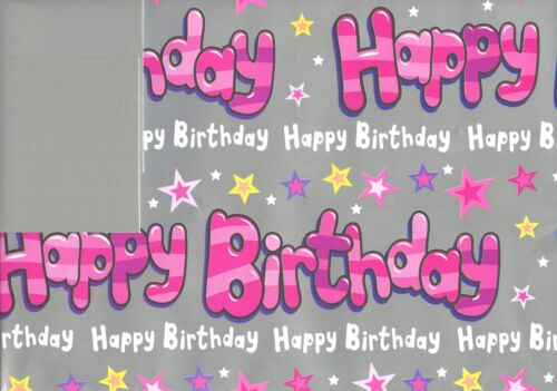 2 TAGS VARIOUS DESIGN 1STPP HAPPY BIRTHDAY 2 SHEETS OF GIFT WRAP WRAPPING PAPER