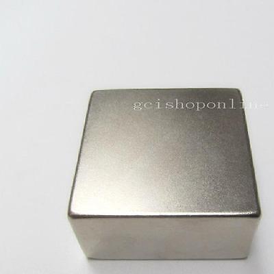 "N52 Neodymium 50*50*25mm block Permanent rare earth magnet super strong 2""x2""x1"""