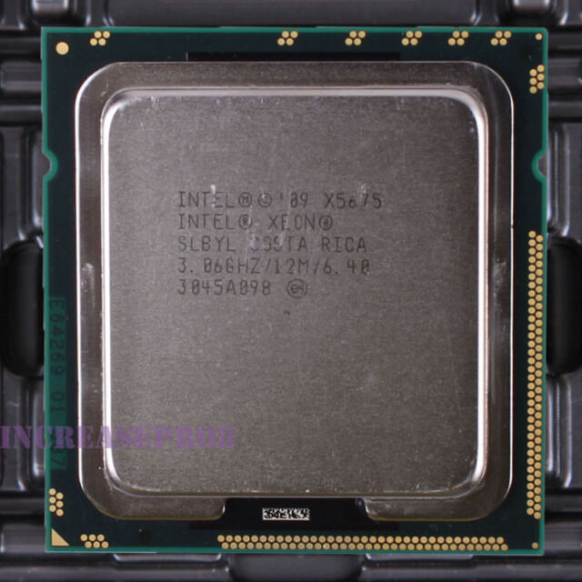 Intel Xeon X5675 SLBYL Six Core CPU Processor 6.4 GT/s 3.06 GHz LGA 1366