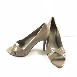 "0d5046bc41fb Unisa Shoes Womens Size 8M Crisscross Peep Toe Pumps Sandals 4"" Heel ..."