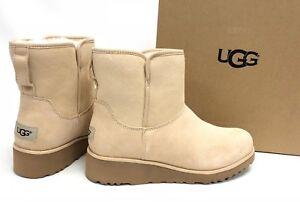 bd7cf4542f4 Details about Ugg Australia Kristin 1012497 Women's Cream Sheepskin  Shearling Wedge Boots