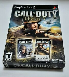 Call of Duty: Legacy (Sony PlayStation PS2) Finest Hour & Big Red One w/ Manuals