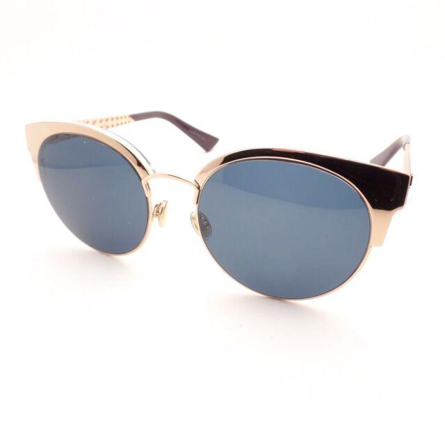 Christian Dior Dioramamini DDBKU Gold Copper Blue Avio New Sunglasses  Authentic 38cf679e9adf