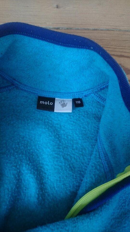 Blå fleece trøje