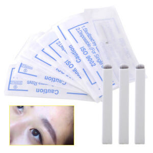 10x-12-Nadeln-U-Microblading-Augenbrauen-Tattoo-Klinge-Permanent-Make-up-Blades