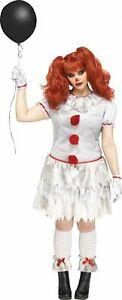 Carnevil Evil Scary Clown Dress ADULT Womens Costume PLUS Size NEW It