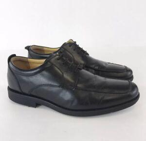 Marks-amp-Spencer-Air-Flex-Homme-en-Cuir-Noir-Oxford-Chaussures-a-lacets-taille-UK6