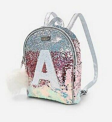 Justice Ombre Initial E Mini Backpack New with Tags