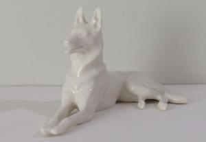 Vintage Lenox White German Shepherd Dog