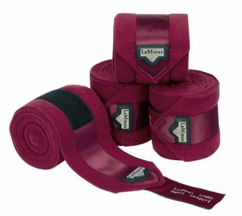 LeMieux Loire Luxury Fleece Polo Bandages Set of 4 Exercise//Stable