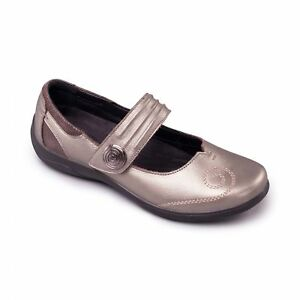 07c7a23f Padders POEM Ladies Womens Leather Extra Wide (2E/3E) Mary Jane ...