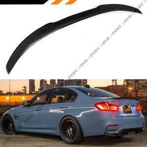Details about For 2012-18 BMW F30 3 Series 335i 328i Carbon Fiber M4 Look  Style Trunk Spoiler