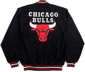 NBA-CHICAGO-BULLS-JH-DESIGN-LIGHT-TWILL-COTTON-BLACK-JACKET-MICHAEL-JORDAN-NWT
