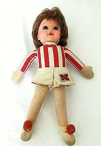 Vintage-Mattel-Nebraska-Cornhuskers-Huskers-Talking-Doll-1970-Cheerleader-Rare