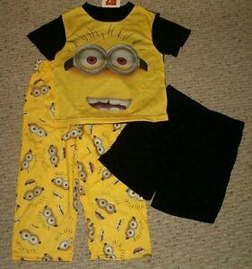 6 8 or 10 Despicable Me Boy/'s Pajama Set Sleepwear Minions Fleece  4 New $36